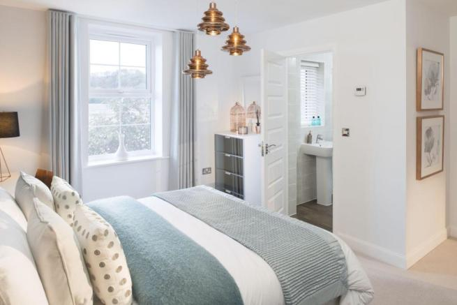 Typical Heathfield master bedroom with modern en suite