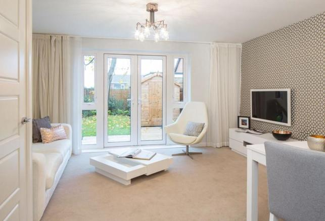 Typical Barwick living area with French doors
