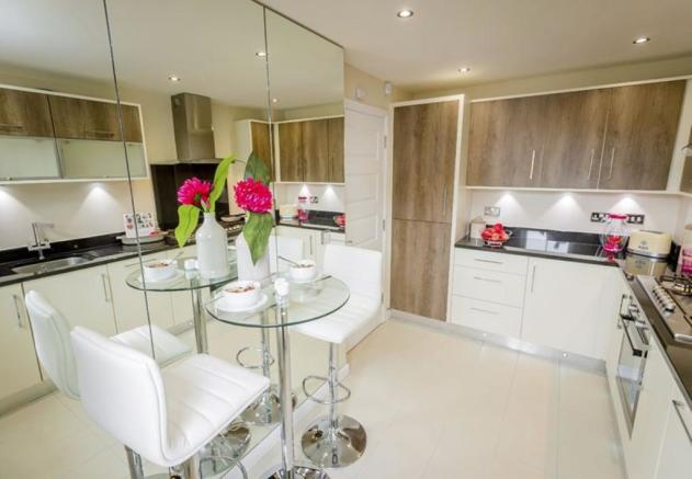 Typical Barwick fitted kitchen with breakfast area