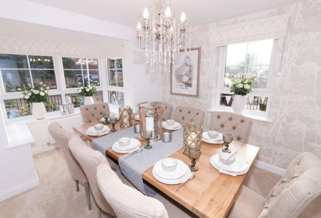 Alnwick Show Home dining room