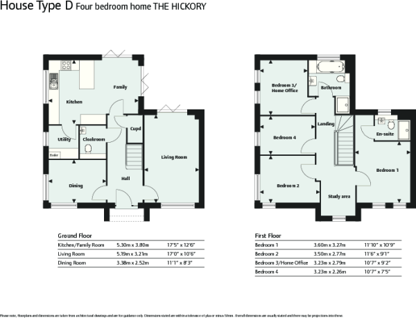 Hickory floor plans