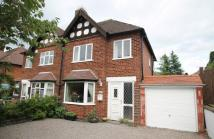 semi detached home for sale in Ashley Road, Keyworth...