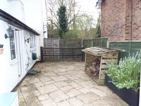 Patio Area and Log Store