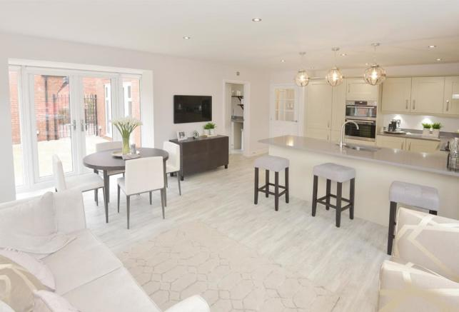 Henley Show Home Kitchen and Family Area