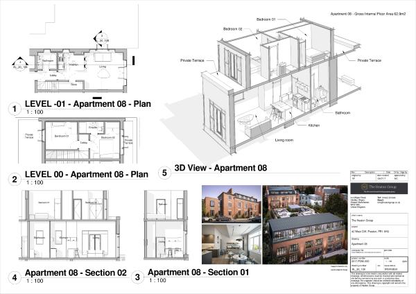 Apt 8 3D Floor Plan