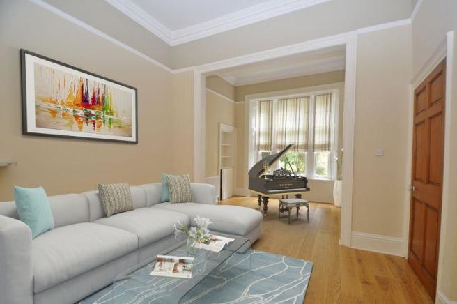 Virtually Staged Drawing Room