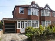 3 bed semi detached house to rent in Chassen Road, Urmston