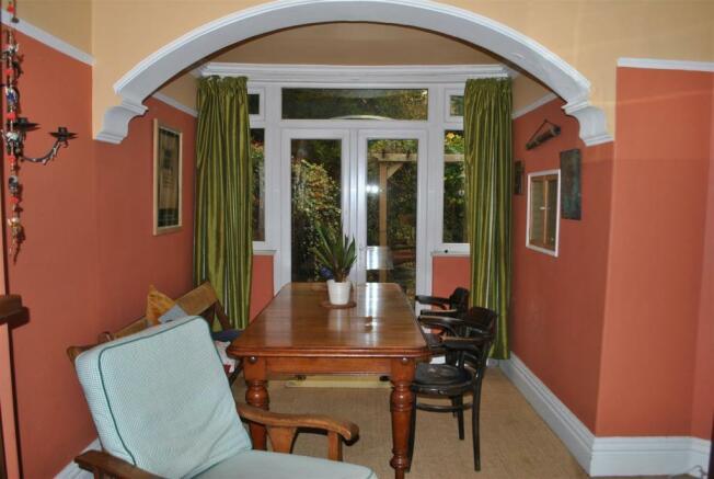 Rear sitting/dining room