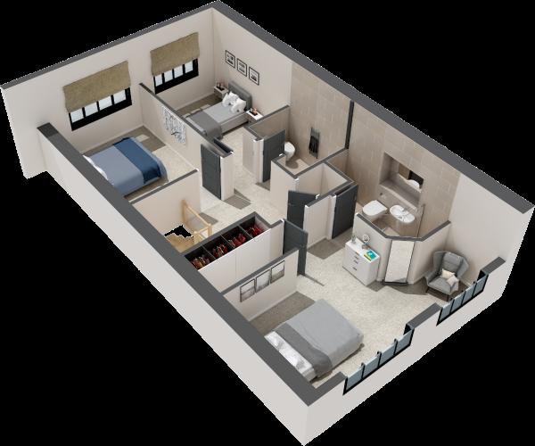 CGI Floorplan SF