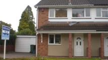 semi detached house to rent in The Paddock, Codsall...