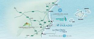 Map of Costa Blanca