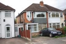 3 bedroom semi detached property in Parkdale Road, Sheldon...