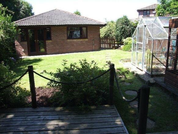 Rear Garden With Decked Terrace