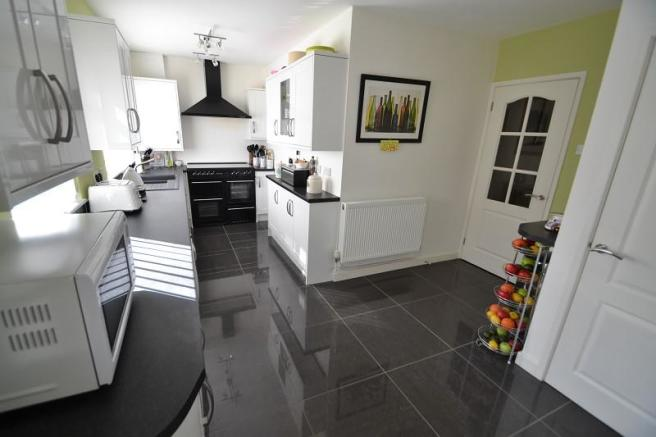 Kitchen and utility area