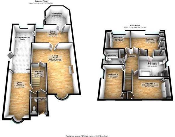 8 Wasdale Drive, Gatley 3D floor plan