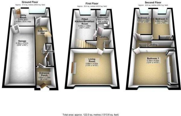 36 Prestbury Close, Hazel Grove, 3D floor plans