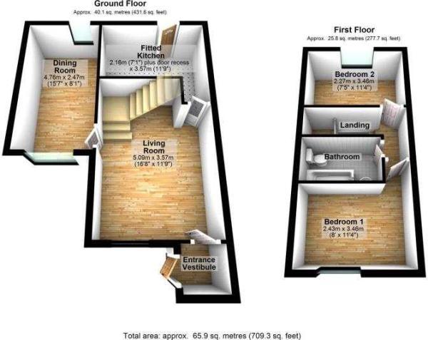 3D floor plans - 33 Thilrmere Road, Wythenshawe