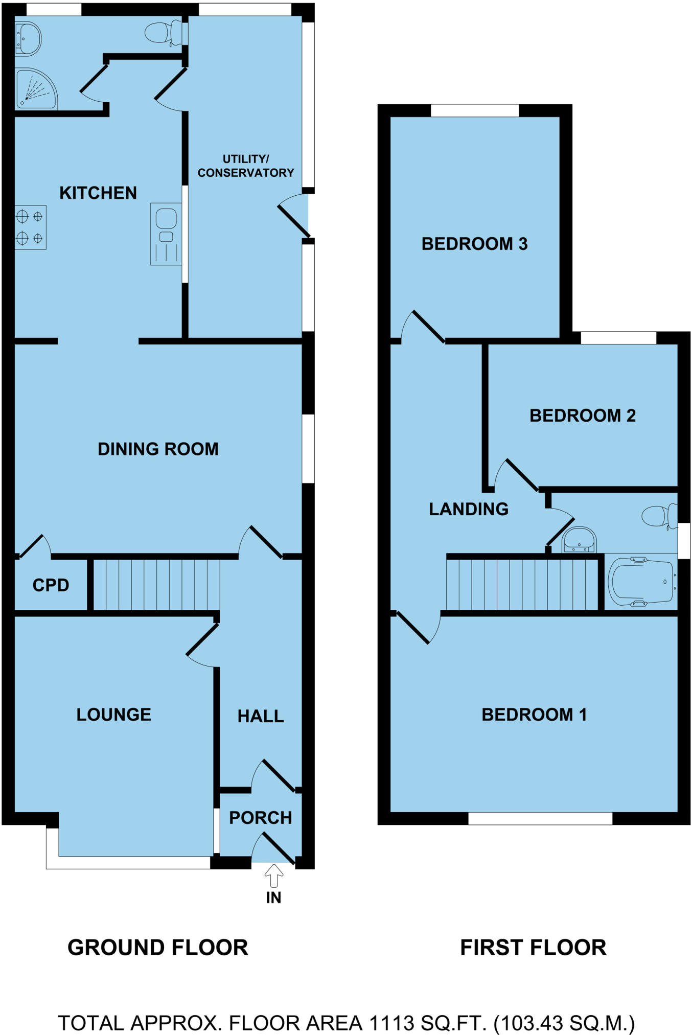 3 bedroom semi-detached house for sale in Bells Marsh Road ...