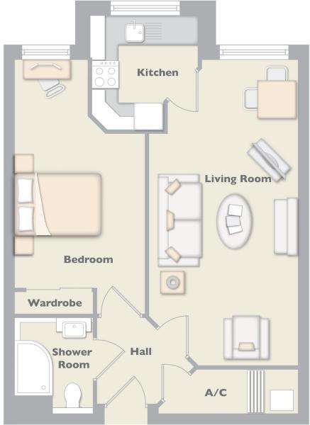 Example Of 1 Bedroom