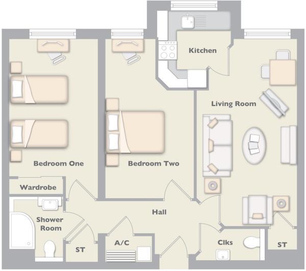 Example Of 2 Bedroom