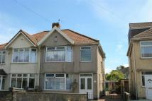 3 bedroom semi detached home for sale in Hendre Road, Ashton...