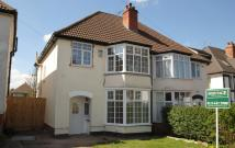 semi detached property for sale in Greenend Road, Moseley...
