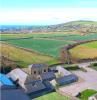 Aerial view of barns