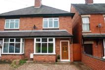 semi detached house to rent in Leighton Road, Uttoxeter...