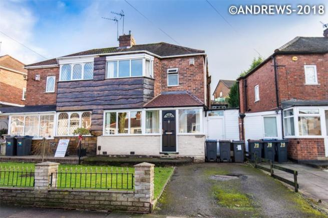 2 Bedroom Semi Detached House For Sale In Courtenay Road Great Barr