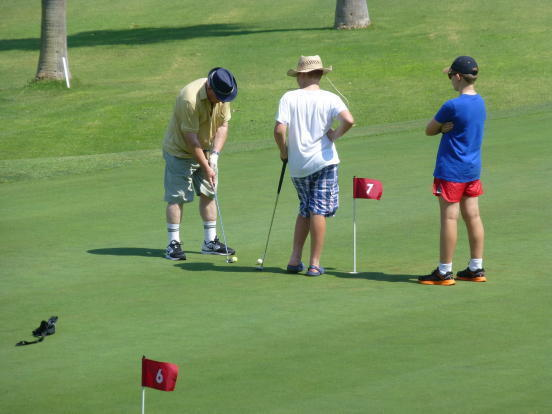 ON GOLF COURSE