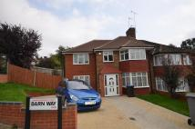 Barn Way semi detached house to rent