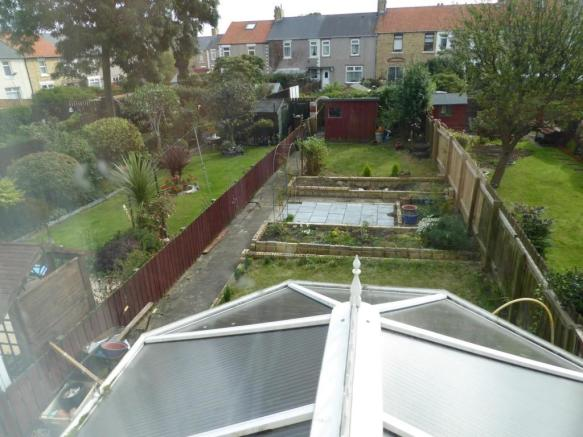 VIEW OF GARDEN FROM