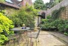 Walled patio garden