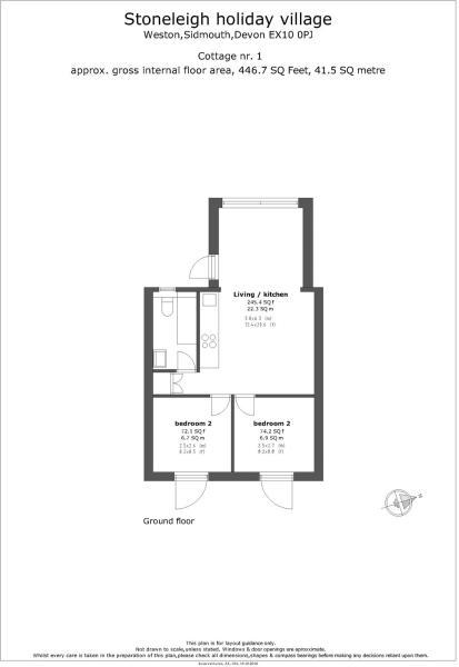 Floorplan Cottage 1