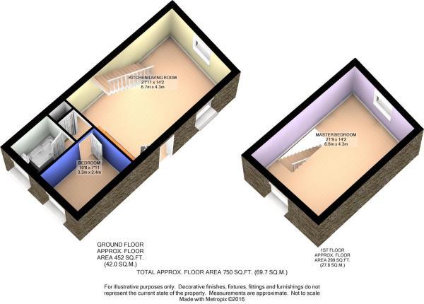3D Cottage Floor Plan