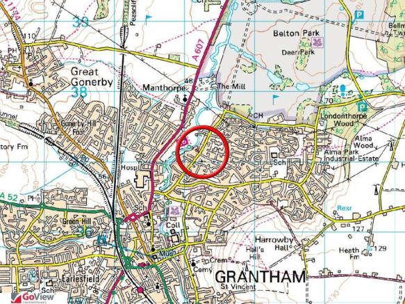 Grantham Map