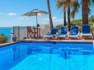 Beautiful swimming pool with sea views, Puerto Alcudia, Mallorca