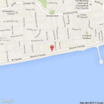 Map of 1 bedroom flat Worthing BN11