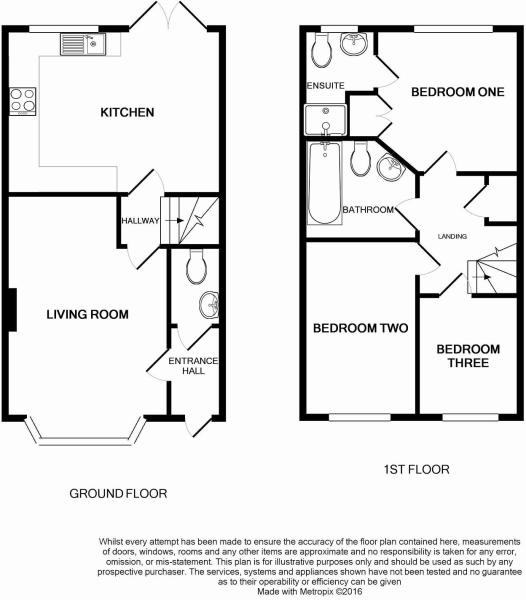 Floorplan of Three bed house In Barnham