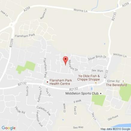 Map of Studio flat Felpham Bognor Regis