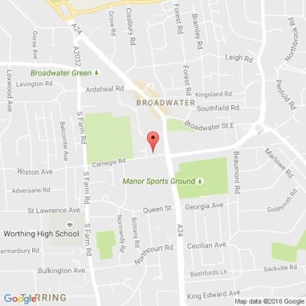 Map of one bed retirement flat Broadwater, Worthing