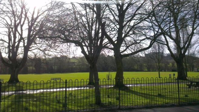 View over recreation ground opposite