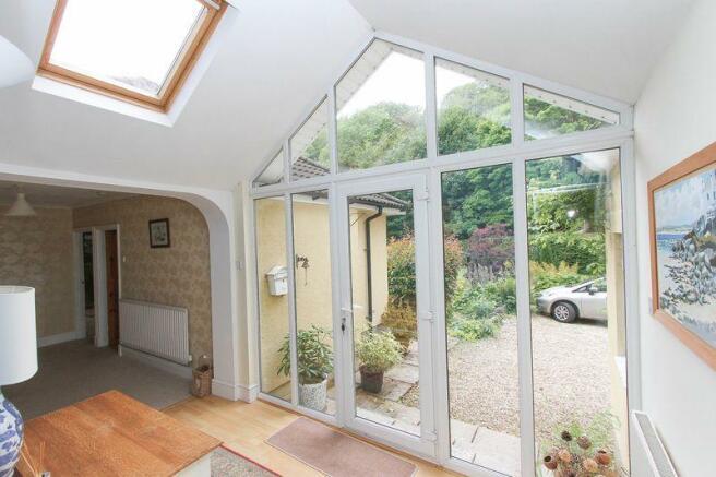 The glass atrium
