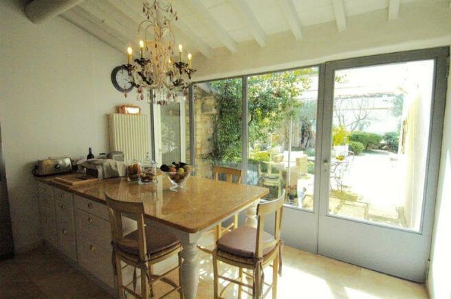 Kitchen opens onto