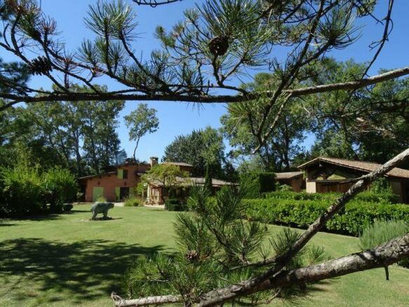 House in verdant...