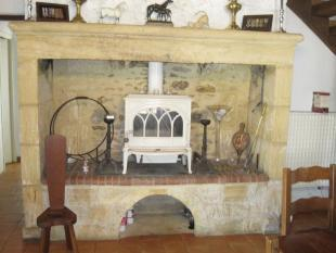 Fireplace in...