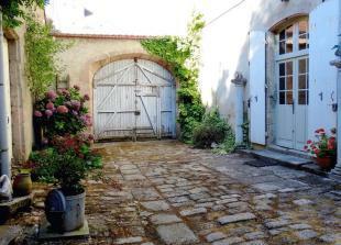 Cobbled courtyard