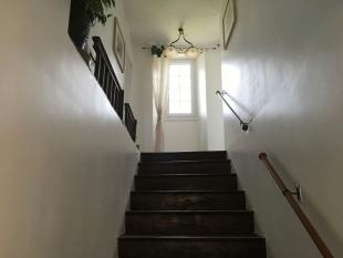 Stairs to first...
