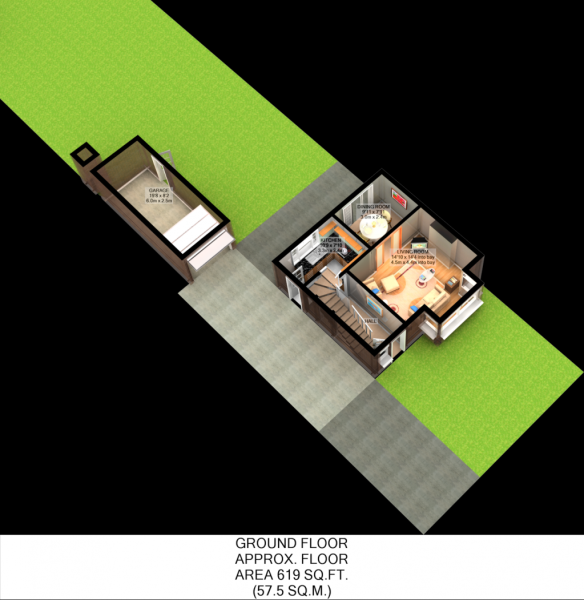 Floorplan 3D (Ground Floor)
