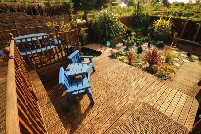 Lower decking area.